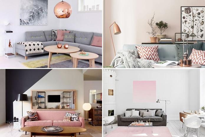 Resultado de imagem para decoração casa rosa quartz