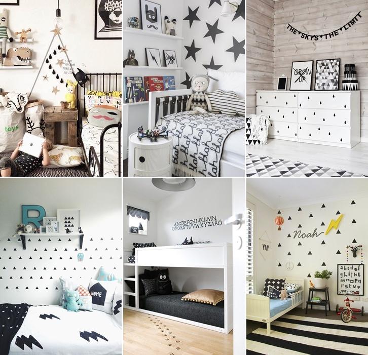 Decoração preto e branco ~ Quarto Preto E Branco Jovem
